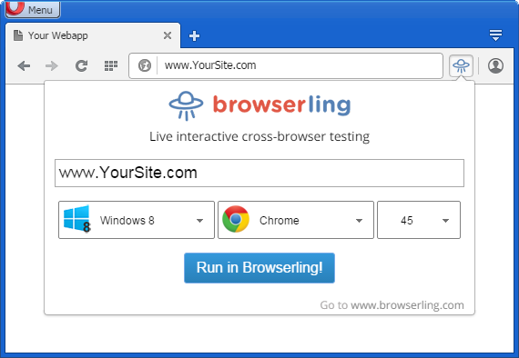 Browserling's Cross-Browser Testing Addon