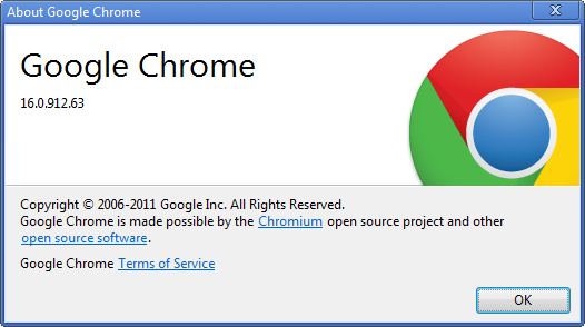 Chrome 16 Version