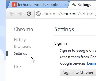 Browserling Chrome 19 Settings