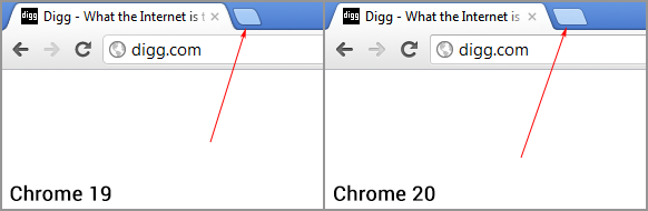 Browserling Chrome 20 New Tab Button