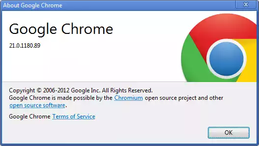 Chrome 21 Version