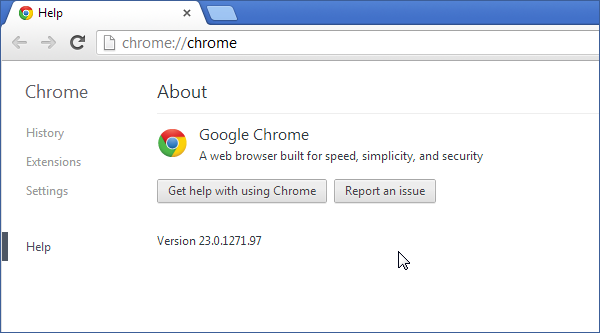 Cross browser testing in Chrome 23