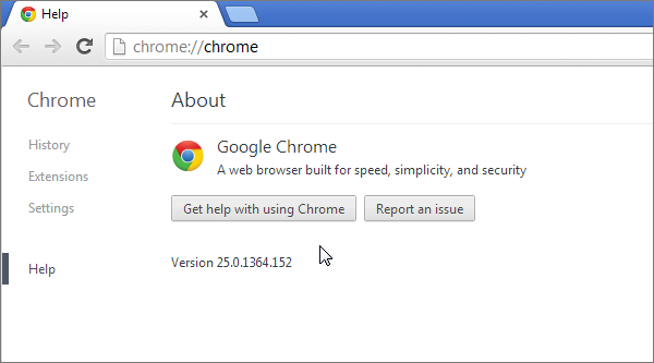 Cross browser test in Chrome 25
