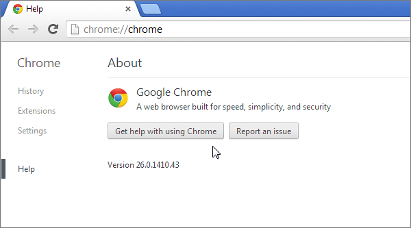 Web test in Chrome 26