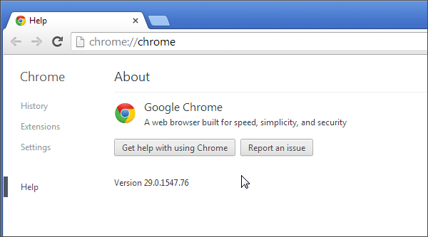 Browser testing in Chrome 29