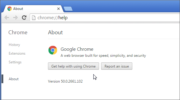 Browser testing Chrome 50