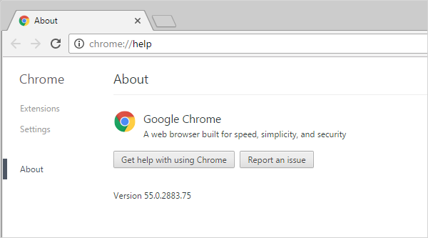Cross-browser testing in Chrome 55