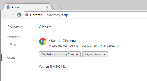 Cross-browser testing in Chrome 58