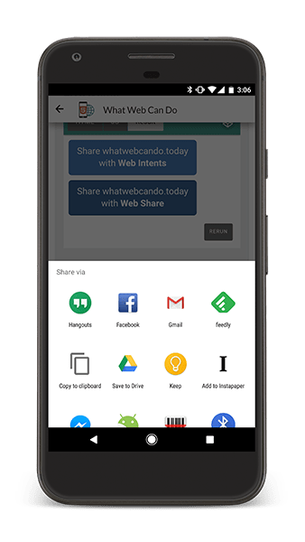 Chrome 61 Web Share API