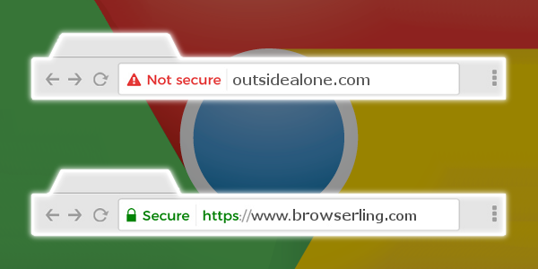Chrome 68 not secure and secure
