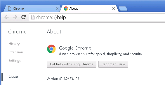 Cross browser test in Chrome 49