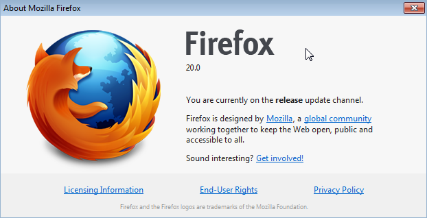 Firefox 20 Version