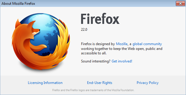 Firefox 22 Version