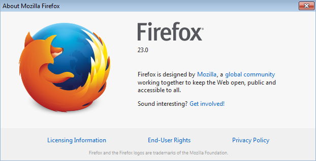 Firefox 23 cross browser testing