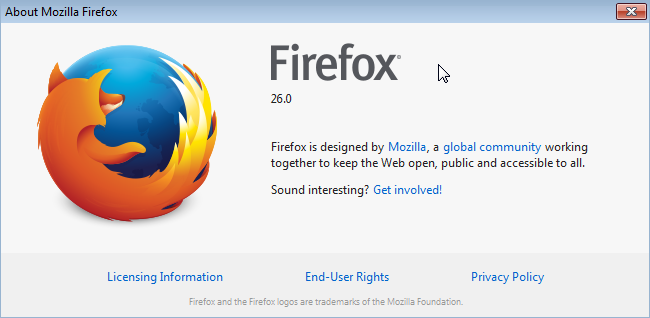 Web test in Firefox 26