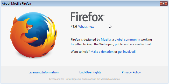 Cross-browser testing in Firefox 47