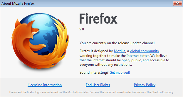 Firefox 9 Version