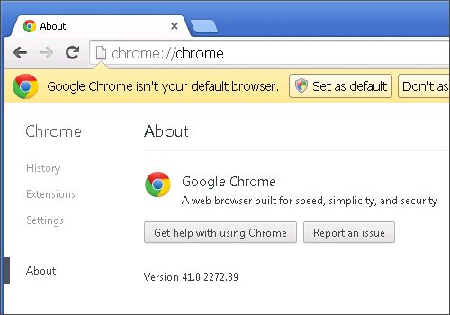 Google Chrome 41 Added to Browserling - Cross-Browser