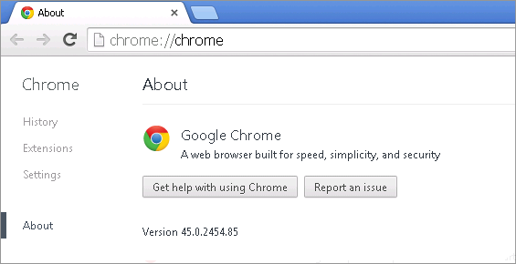 Cross-browser testing in Chrome 45