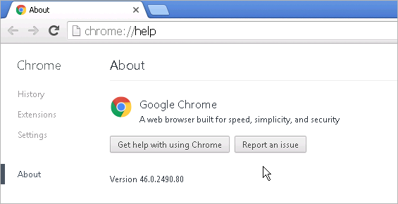 Cross-browser testing in Chrome 46