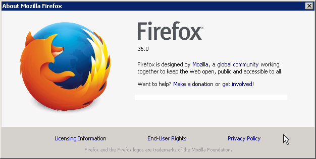 Cross-browser testing in Firefox 36
