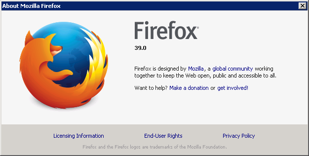 Cross-browser testing in Firefox 39