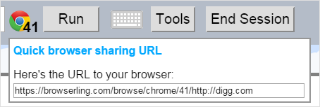 Share a browser (cross-browser testing)