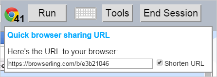 Shorten a browser sharing URL (cross-browser testing)